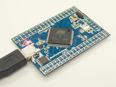 AT91SAM7X512マイコンボード
