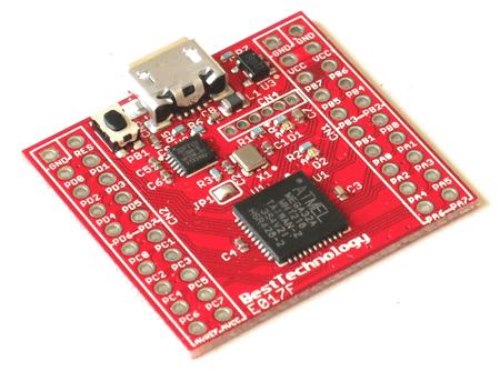 ATmega32Aマイコンボード